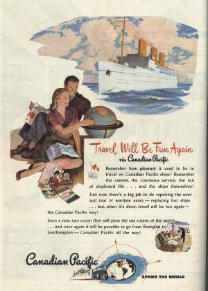 Ad for Canadian Pacific in the October 28, 1946 Newsweek Magazine
