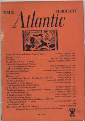 February 1935 issue of The Atlantic Monthly