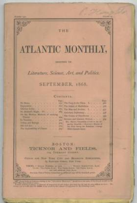 September 1868 issue of The Atlantic Monthly