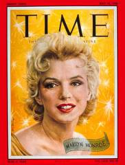 Marilyn Monroe on the cover of Time May 14, 1956