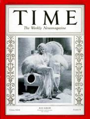 Jean Harlow on the cover of August 19, 1935 Time Magazine