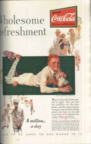 Norman Rockwell ad for Coca-Cola in The American Magazine February 1928 issue