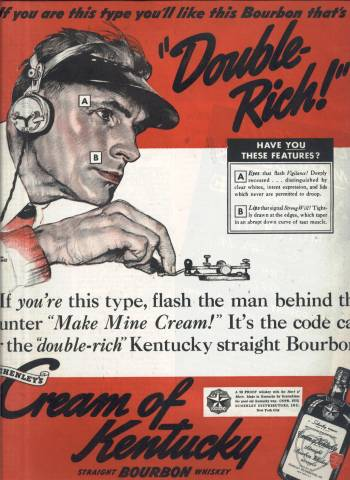 Norman Rockwell ad for Cream of Kentucky Bourbon in Collier's Magazine January 28 1939 issue