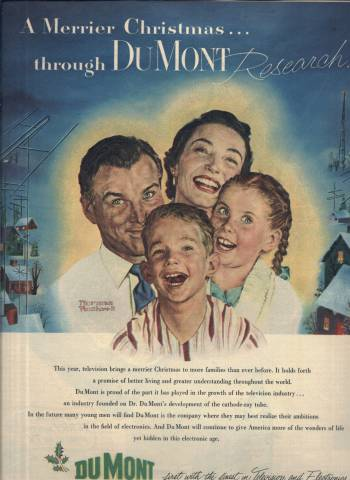 Norman Rockwell ad for Dumont in LOOK Magazine December 30 1952 issue