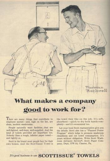 Norman Rockwell ad for Scottissue in Newsweek Magazine December 19 1955