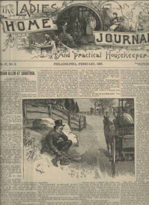 Ladies Home Journal February 1887 Issue