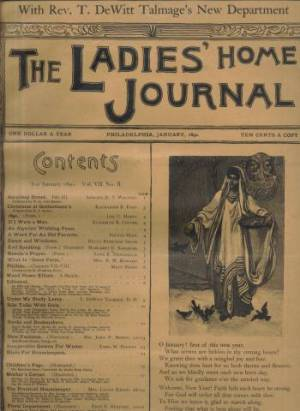 Ladies Home Journal January 1890 Issue