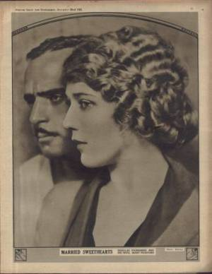 Mary Pickford and Douglas Fairbanks Art Supplement from Picture Show