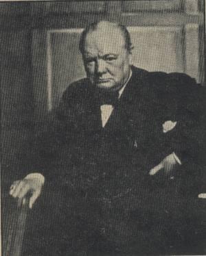 Winston Churchill photo by Yousef Karsh in October 28, 1946 Newsweek Magazine