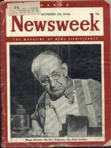 Cover of the October 28 1946 Newsweek Magazine