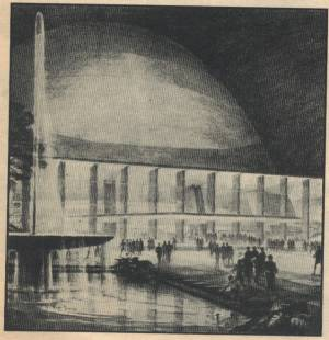 New York City's idea of a United Nations building in the October 28, 1946 Newsweek Magazine