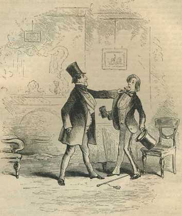 """Reception of an Old Friend"" - Illustration with Little Dorrit by Charles Dickens"