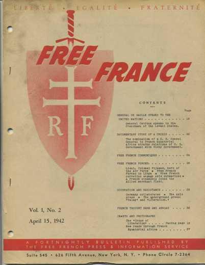 Free France Magazine April 15 1942