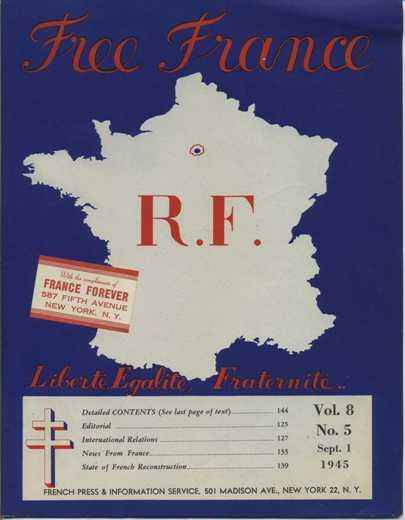 Free France Magazine September 1 1945