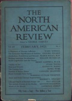 February 1921 issue of North American Review