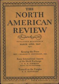 North American Review March 1927 cover