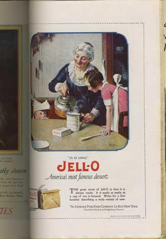 Norman Rockwell Jello Ad - 1923
