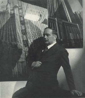 H.G. Wells photographed by Edward Steichen in May 1935 issue of Vanity Fair