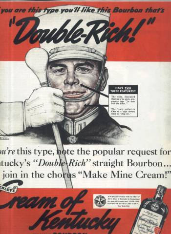 Norman Rockwell ad for Cream of Kentucky Bourbon in Collier's Magazine February 25 1939 issue