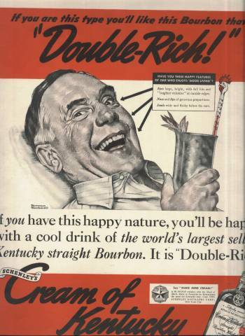 Norman Rockwell ad for Cream of Kentucky Bourbon in Collier's Magazine September 9 1939 issue