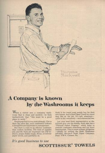 Norman Rockwell ad for Scottissue in Newsweek Magazine May 30 1955