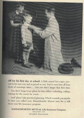 Norman Rockwell ad for Massachusetts Mutual in Newsweek Magazine Sep 19 1955