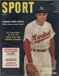 Sport Magazine August 1956 Vinegar Bend Mizell