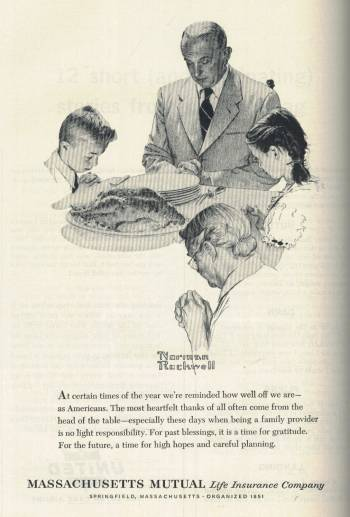 Norman Rockwell ad for Massachusetts Mutual in Newsweek Magazine November 19 1962