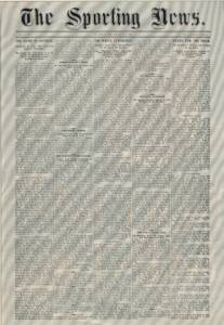 The first issue of The Sporting News dated March 17, 1886