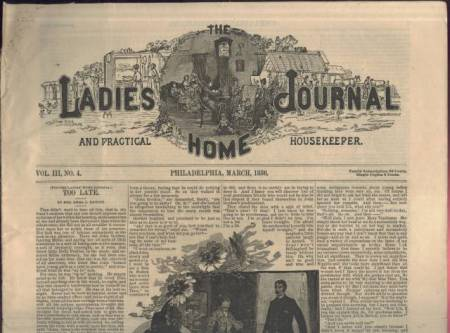Ladies Home Journal March 1886 Issue