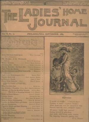 Ladies Home Journal September 1889 Issue