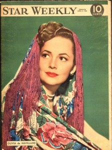 Olivia De Havilland 1949 Star Weekly