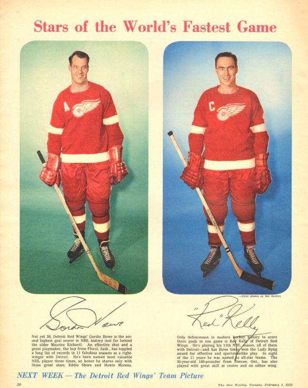 Gordie Howe and Red Kelly