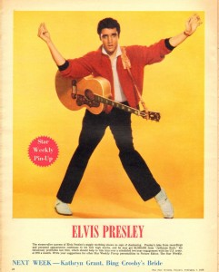 Elvis Presley 1958 pin up