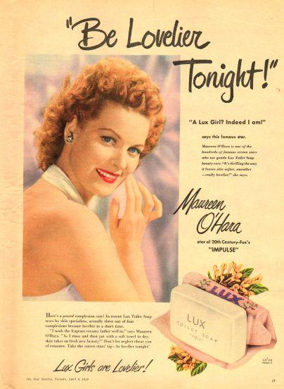 Maureen OHara Lux Ad