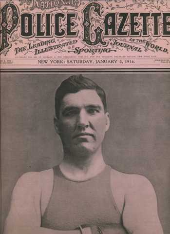 Police Gazette 1916 Jess Willard cover