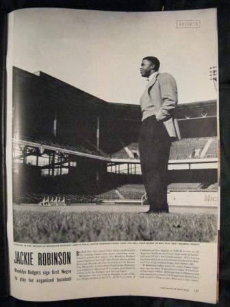 Jackie Robinson inside 1945 Life