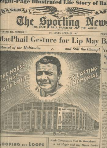 Babe Ruth Memorial Sporting News