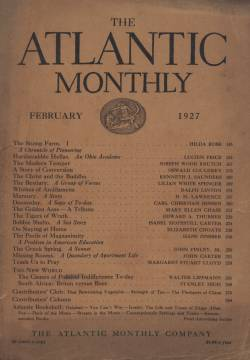 Cover of the 1927 Atlantic Monthly