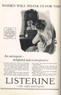 1927 Listerine Ad