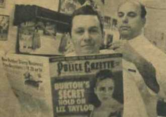 1965 Police Gazette Reader at the Barber