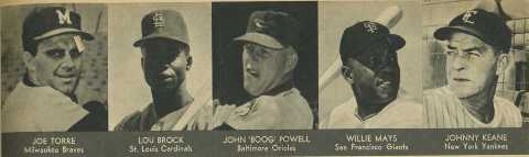 Baseball players 1965 Police Gazette