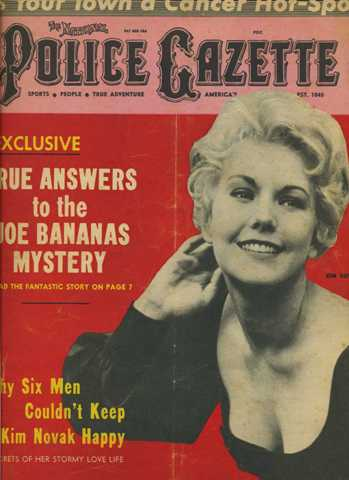 Kim Novak Police Gazette 1965