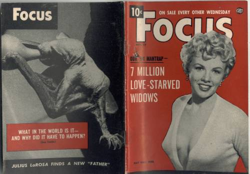 Front and Back cover of the February 17, 1954 issue of Focus Magazine