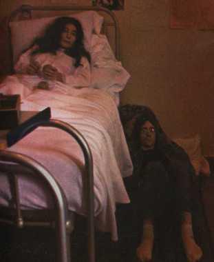 John Lennon at Yoko Ono's bedside