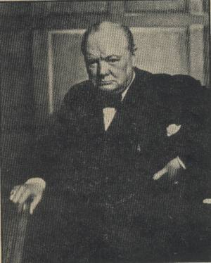 Winston Churchill photo by Yousef Karsh in October 28, 1946 Newsweek Magazine
