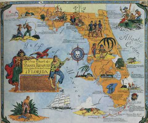 Pirate Map of Florida