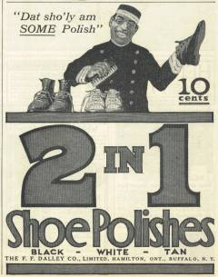 2 in 1 Shoe Polishes Ad