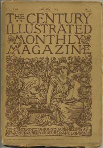 January 1885 Century Magazine Cover