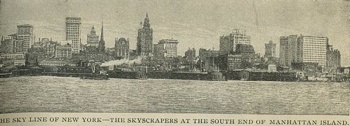 New York City Skyline in 1898